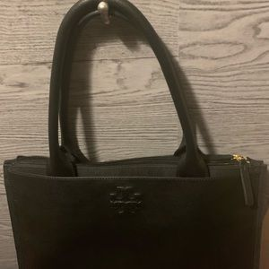 AUTHENTIC Tory Burch Ella Canvas Leather Tote